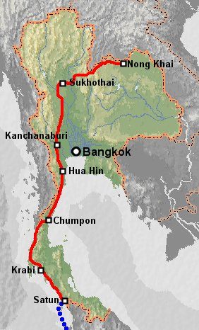 Nong Khai Thailand Map.Cycling In Thailand General Info
